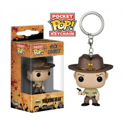 POP! Llavero: The Walking Dead - Rick Grimes
