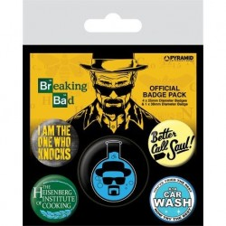 Pack de 6 chapas de Breaking Bad