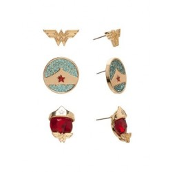 Pack 3 Pares Pendientes Wonder Woman