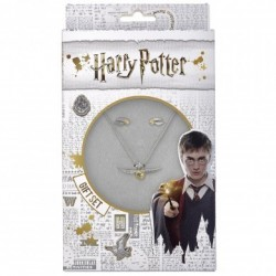 Set Colgante y Pendientes Harry Potter: Snitch Dorada