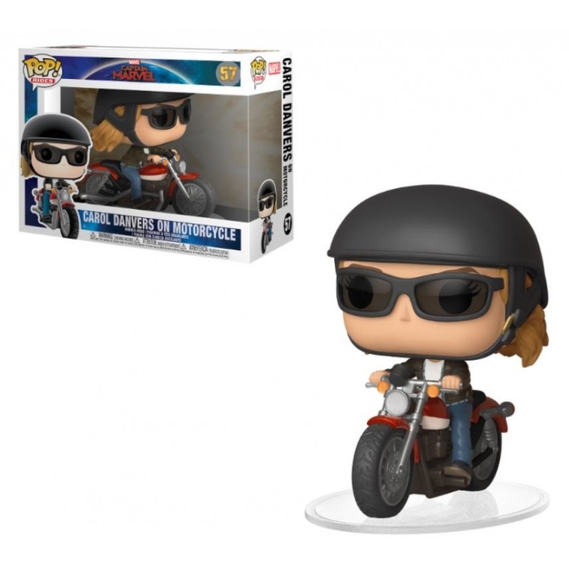 POP! Marvel: Captain Marvel - Carol Danvers on Motorcycle