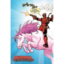 Póster Deadpool Unicornio