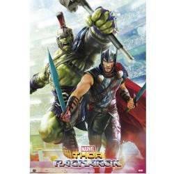 Póster Thor Ragnarok: Hulk y Thor