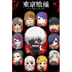 Póster Tokyo Ghoul Personajes Chibi