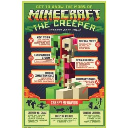 Póster Minecraft Creeper Creepy Behaivor