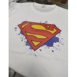 Camiseta Superman Watercolor